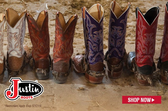 Online Exclusive - Justin Sale - $10 Off All Justin® Western Boots Over $100 - Coupon Code: JW10