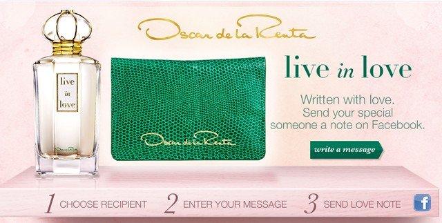 Oscar de la Renta. Write a message.