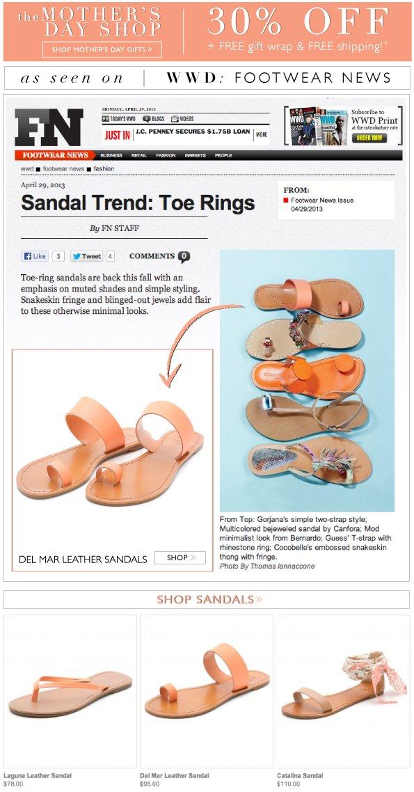 Sandal Trend: Toe Ring