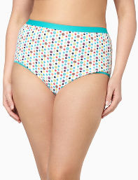 White Serenada Dots Brief