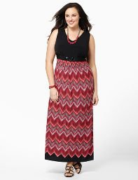 Black Chevron Gem Maxi
