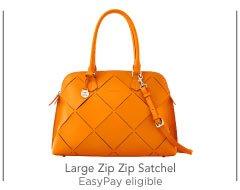 Large Zip Zip Satchel