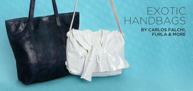 Exotic Handbags By Carlos Falchi, Furla & More