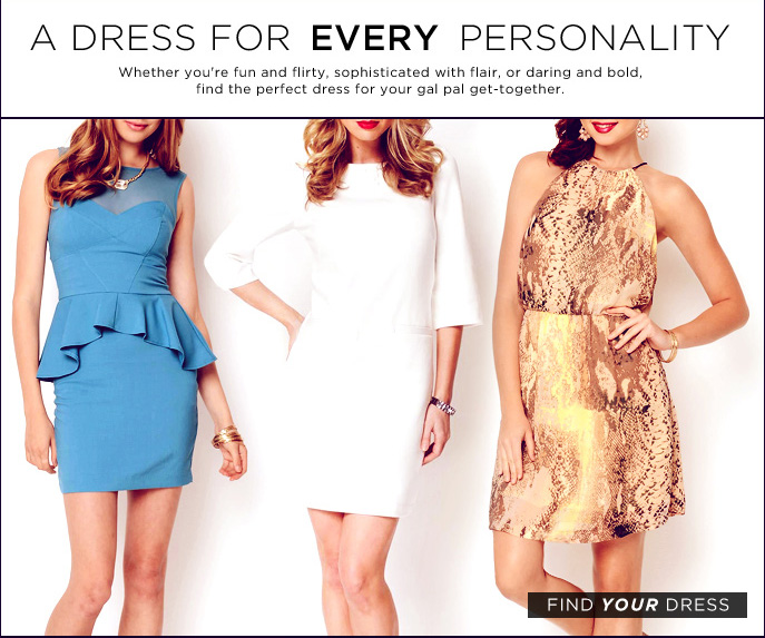 A dress For Every Personality