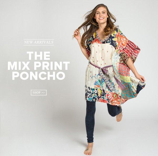 The Mix Print Poncho