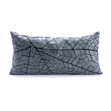 Vein Pillow Cover // Grey