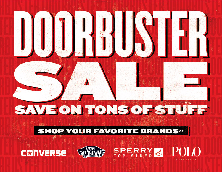 Doorbuster Sale! Shop Your Favorite Brands & Save On Tons Of Stuff.