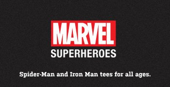 Marvel Superheroes - Spider-Man and Iron Man tees for all ages.