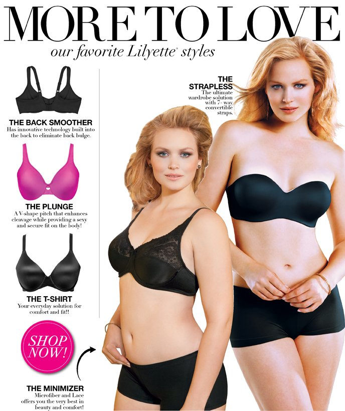 More to Love: Our Favorite Lilyette Styles - The Strapless, The Back Smoother, The Plunge, The T-Shirt and The Minimizer