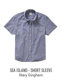 Navy Gingham - Short Sleeve