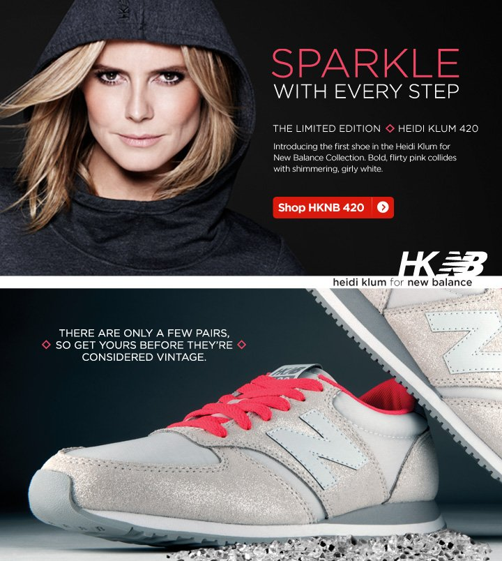 Exclusive Heidi Klum 420 shoe from New Balance.