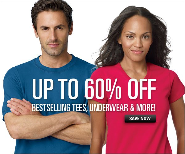Up to 60% off Bestselling Tees, Underwear & More
