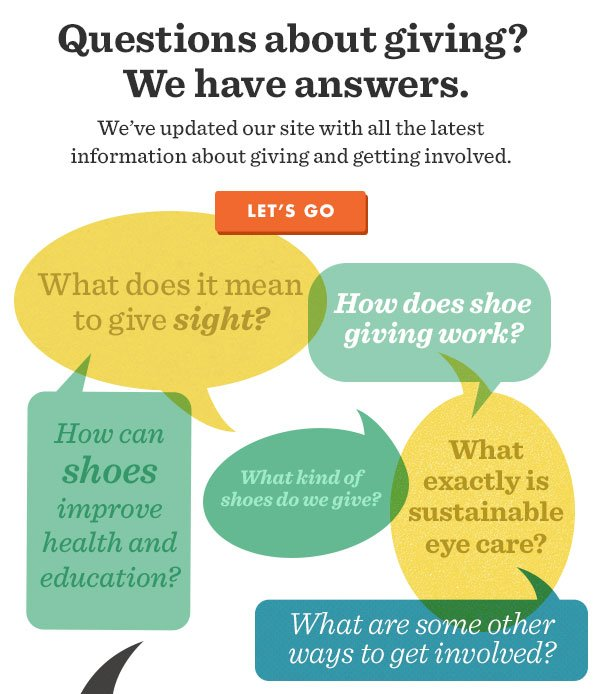 Questions about giving? We have answers. We've updated our site with all the latest information about giving and getting involved. Let's go!