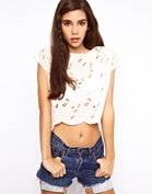 ASOS Top With Allover Embroidery And Cutwork