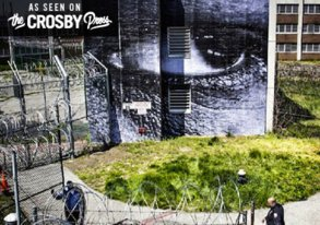 Shop JR Goes to Prison in NYC for Wheatpasting