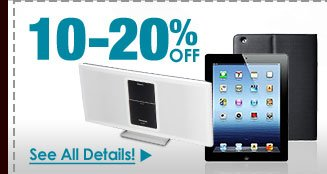 24 HOURS ONLY! 10-20% OFF SELECT APPLE PRODUCTS & COMPATIBLE ACCESSORIES!*