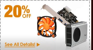 72 HOURS ONLY! 20% OFF SELECT PC ACCESSORIES!*
