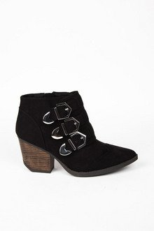 Triple Time Buckle Booties $50