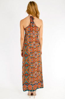 Slitted Paisley Maxi Dress $40