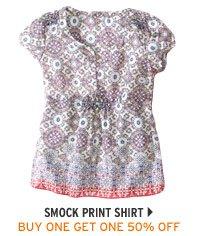 Smock Print Shirt