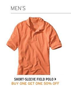 Short-Sleeve Field Polo