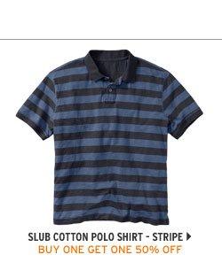 Slub Cotton Polo Shirt