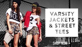 Varsity Jackets & Street Tees - Shop Now
