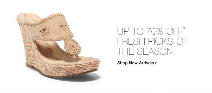 Up To 70% Off* Fresh Picks Of The Season