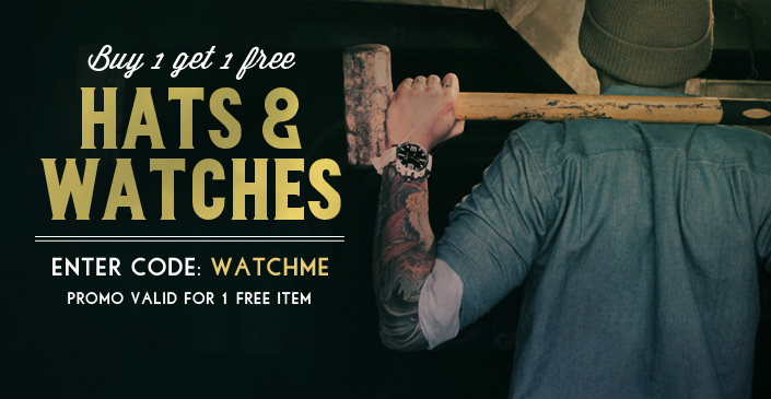Hats and Watches, Buy 1, Get 1 Free