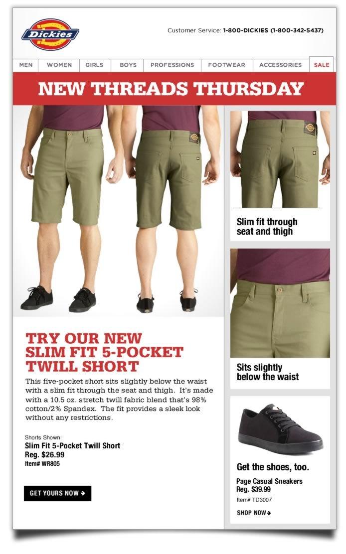 New Threads Thursday: Slim Fit 5-Pocket Twill Short