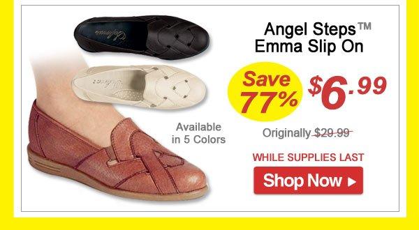 Angel Steps™ Emma Slip On - Save 77% - Now Only $9.99 Limited Time Offer