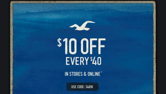 $10 OFF EVERY $40