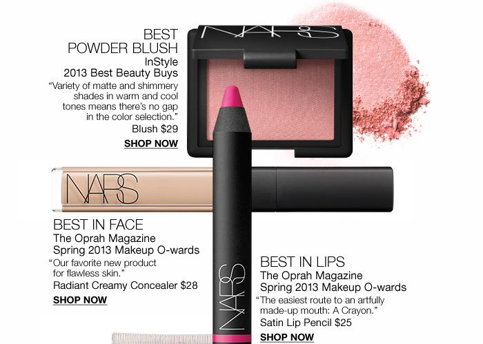 Best Blush, Best in Face, Best in Lips.