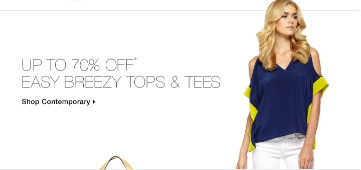 Up To 70% Off* Easy Breezy Tops & Tees