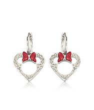 Minnie Heart Pierced Earrings