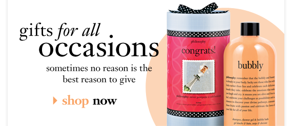 gifts for all occasions. sometimes no reason is the best reason to give| shop now