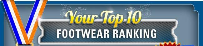 Your Top 10 Footwear Ranking