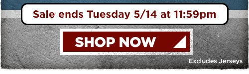Sale ends Tuesday May 14 at 11:59pm - Shop Now