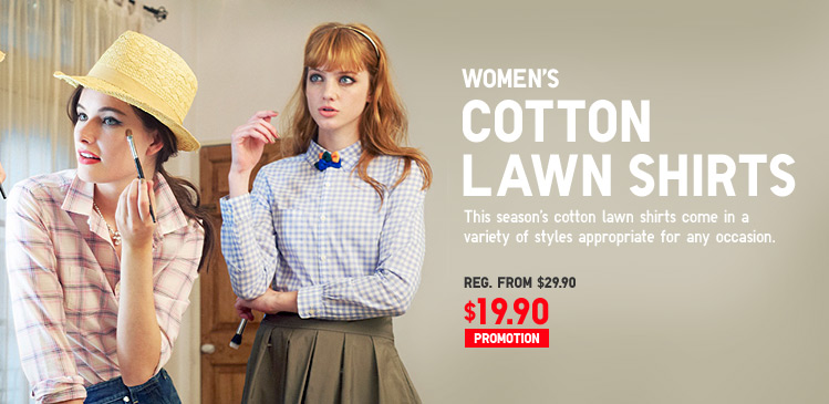 WOMEN'S COTTON LAWN SHIRTS