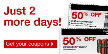 Just 2  more days! Get your coupons.