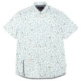 White Short Sleeved Parrot Print Shirt