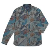Grey Desert Aviator Print Chambray Shirt