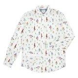 White Mushroom Print Shirt