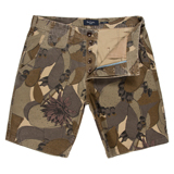 Khaki Desert Camouflage Print Chino Shorts