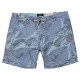 Blue Desert Aviator Print Shorts