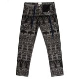 Buffalo Print Pleated Trousers
