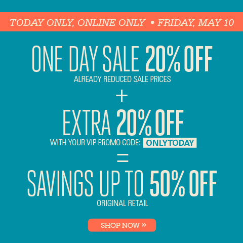 ONE DAY SALE