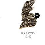 Shop Leaf Rhinestone Wrap Ring