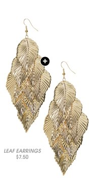 Shop Casted Leaf Chandelier Earring