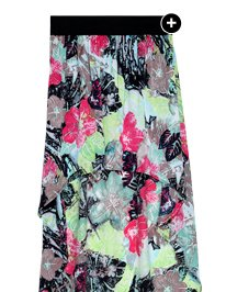 Shop Hibiscus Tropical High-Low Skirt
